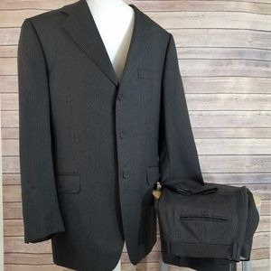 Canali Mens Suit 52L 52 L Drop 7 Wool Rayon